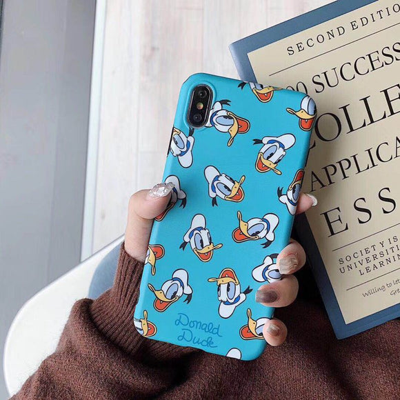 Blue Donald Duck Faces Case