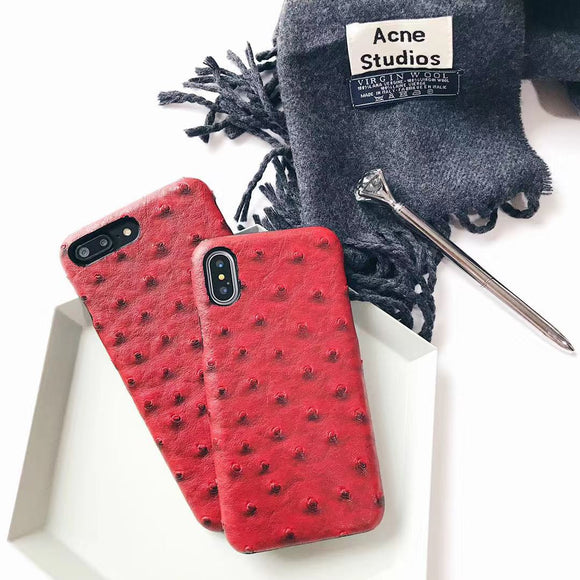 Red Crocodile Leather Case