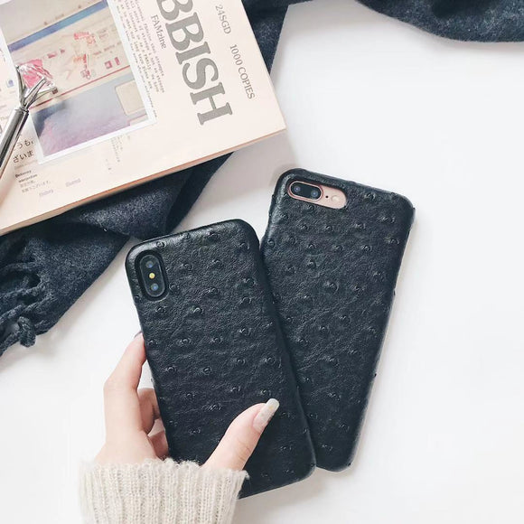 Black Crocodile Leather Case