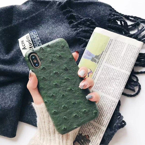 Green Crocodile Leather Case