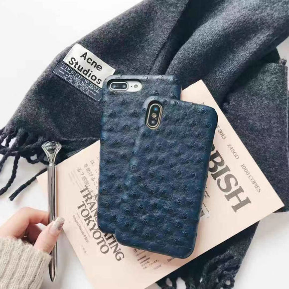 Blue Crocodile Leather Case