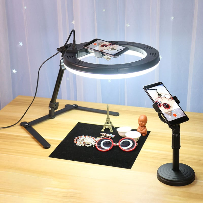 Portable LED Ring Light Stand - ستاند تصوير اضاءة - عدد ستاند اضاءة واحد دائري