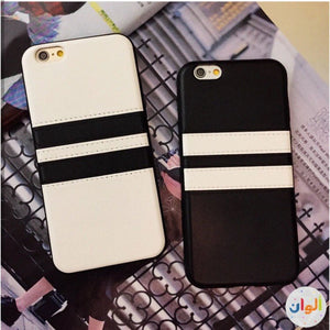 Color Two Line Leather Case