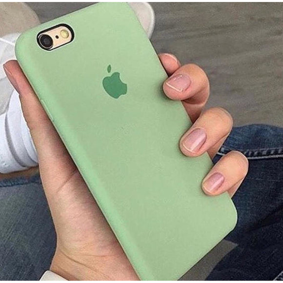 Light Green Plain Silicon Case - اخضر فاتح