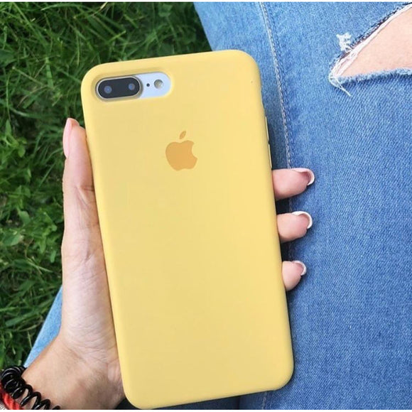 Yellow Plain Silicon Case - اصفر