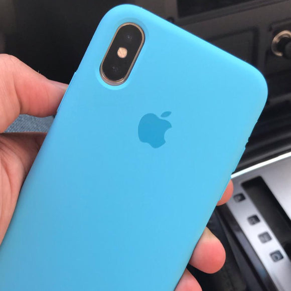 Blue Silicon Plain Case