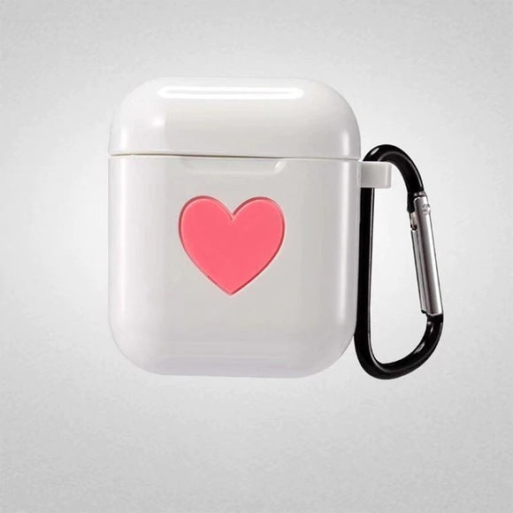 AirPod Heart Case - White - كفر ايربود