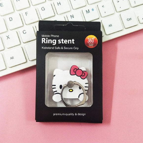 White Hello Kitty Ring - مسكة خاتم