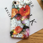 White Orange Flower Case