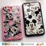 Black/Pink Mickey Faces Case