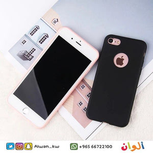 Black Plain Case - With Apple Circle