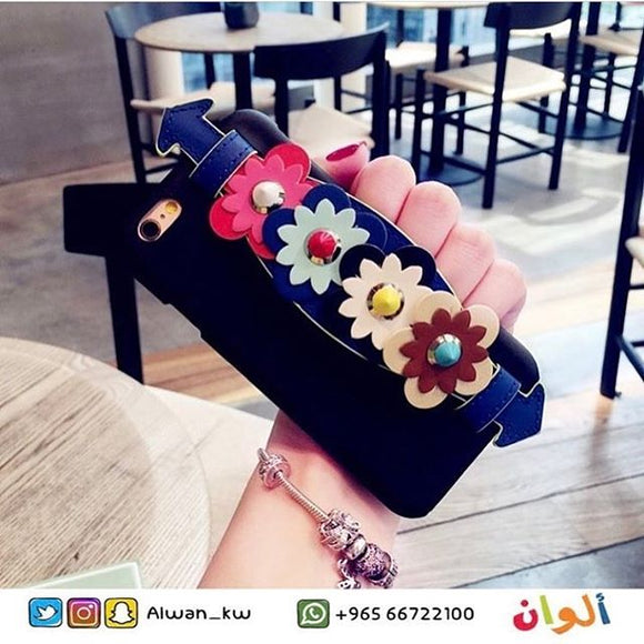 Fendi Case with Strap Flower