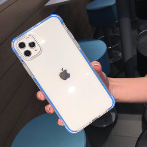 Blue Clear Case Dual Layers Shockproof