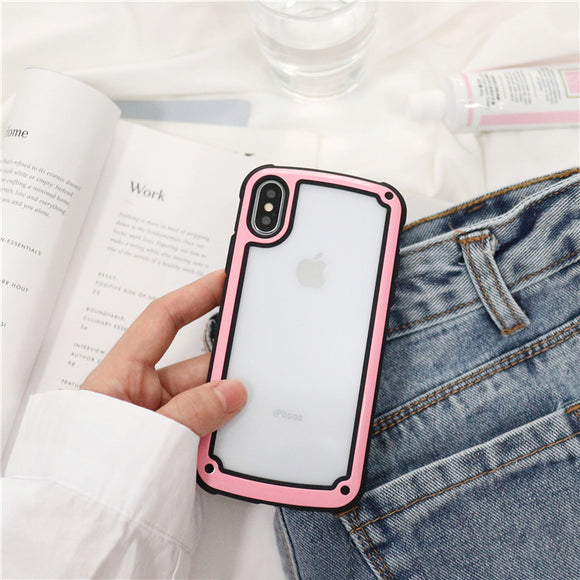 Transparent Case with Pink Border