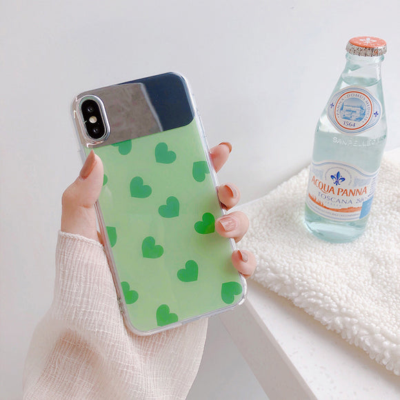 Green Mirror Heart Case