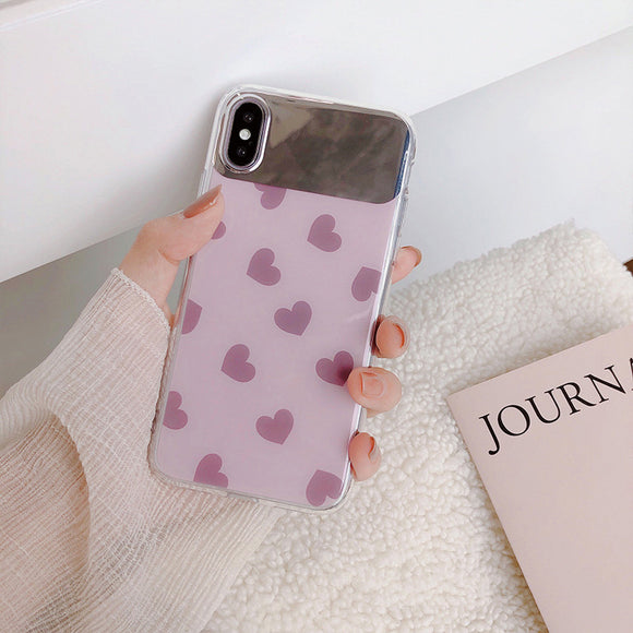 Lavender Mirror Heart Case