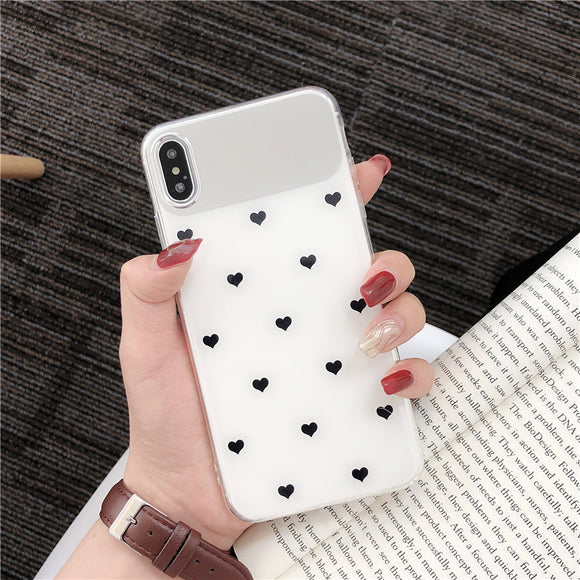 White Mirror Heart Case