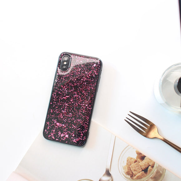 Purple Glitter Oil Case