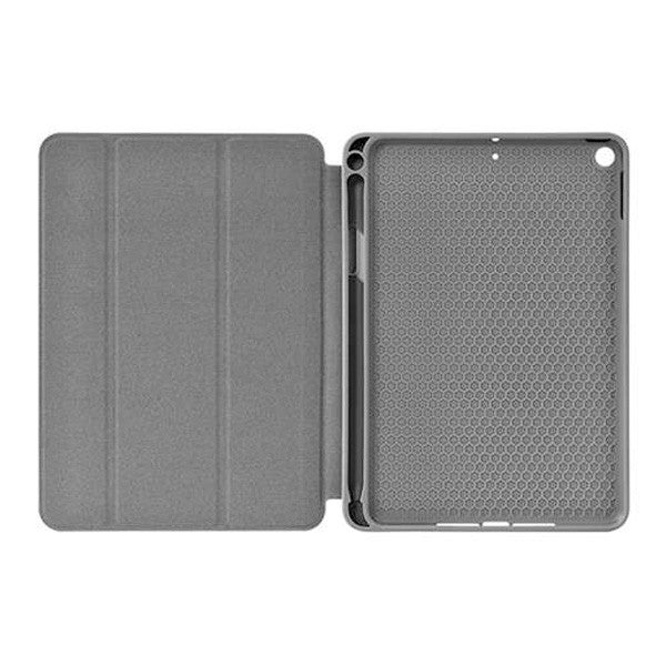 "Green Leather Case with Pencil Slot for iPad 7/8 - 10.2"" - Blue - كفر ايباد 7 و 8 - حجم 10.2 - مع مكان للقلم - ازرق"