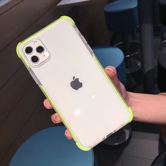 Green Clear Case Dual Layers Shockproof