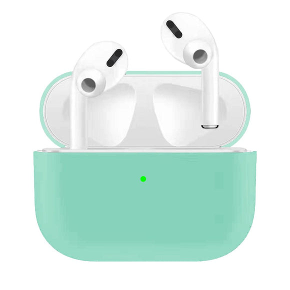 Apple AirPods Pro Silicon Protect Case - Mint Green - كفر حماية سماعة ابل ايربدوز برو - تيفاني
