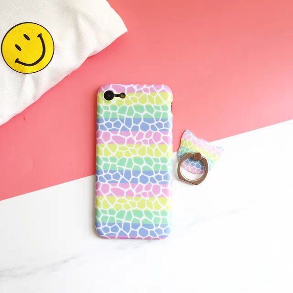 Colorful waves - Case with Ring