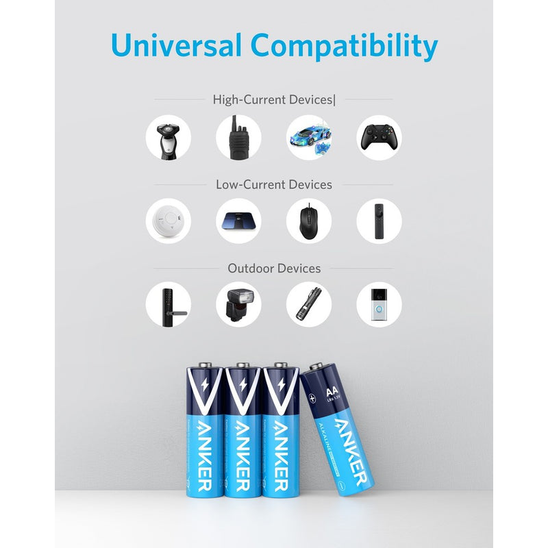 ANKER AAA Alkaline Batteries (4-pack) - بطاريات الكالين