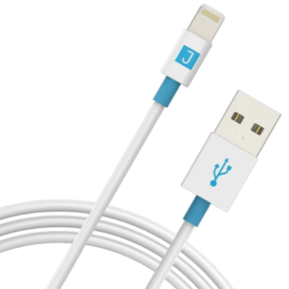 Juku Charge and Sync Cable with Lightning Connector (1.2M, 2.4A) - سلك شحن - جوكو - طول 1.2 متر - كفالة 24 شهر