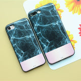 Three Quarter Black Marble and Pink Case