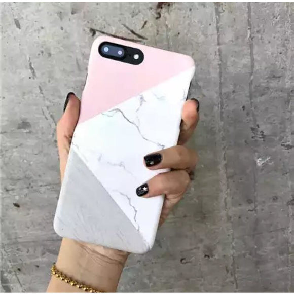 Pink-White-Grey Marble Case