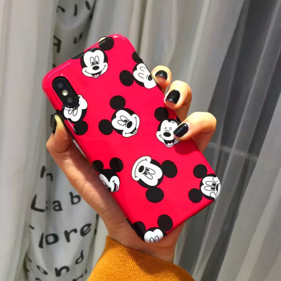 Red Case Mickey Faces