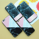 Marble Triangle Case - Pink-White-Black