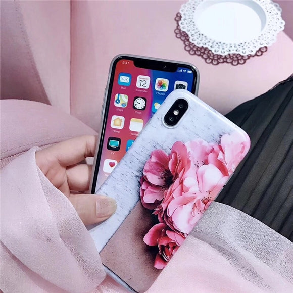 Grey and Pink Flowers Case