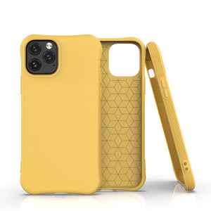 Yellow Simple Candy Soft Shell Phone Case
