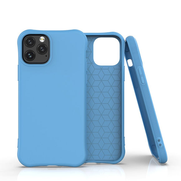 Blue Simple Candy Soft Shell Phone Case