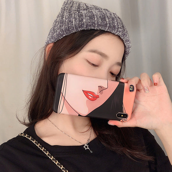 Selfie Girl Face Case
