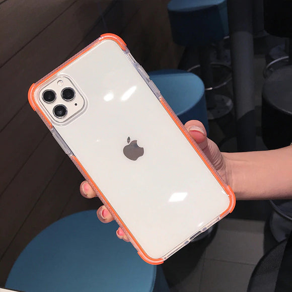 Orange Clear Case Dual Layers Shockproof