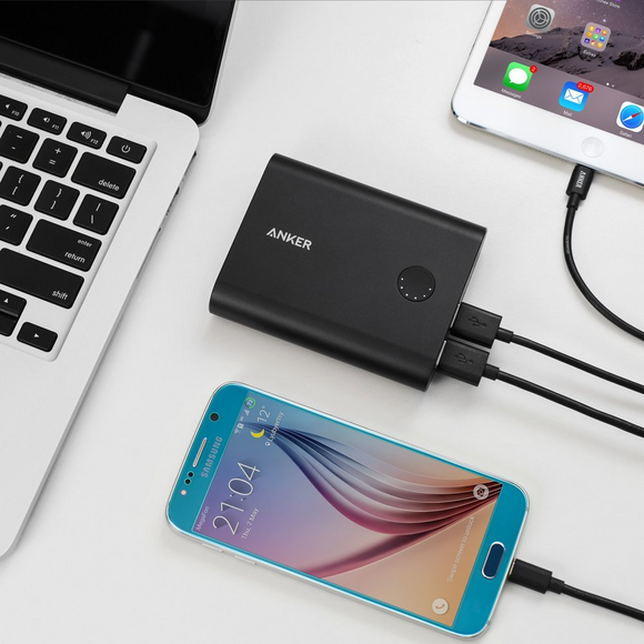 Anker PowerCore+ 13400 QC3.0 - Black [18 Month Warranty] - اسود