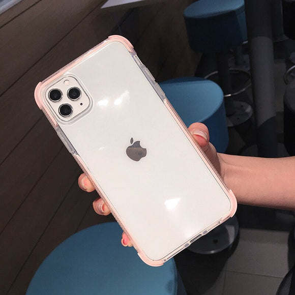 Pink Clear Case Dual Layers Shockproof