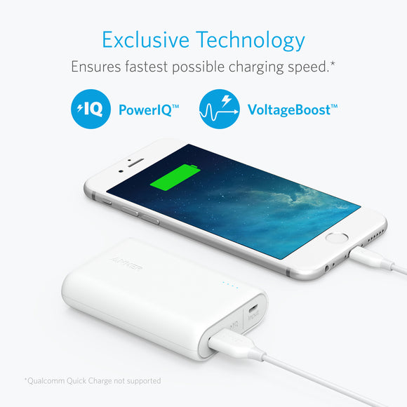 Anker PowerCore II 10000 With IQ - White - [18 Month Warranty]