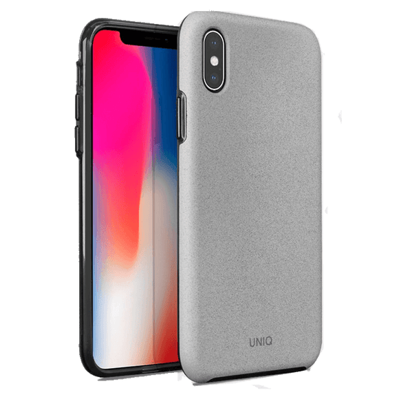 UNIQ Lithos Dual Tier Protection With Texturized Grip Case For iPhone X/XS - Grey - كفر حماية - يونيك - ايفون اكس \ اكس اس