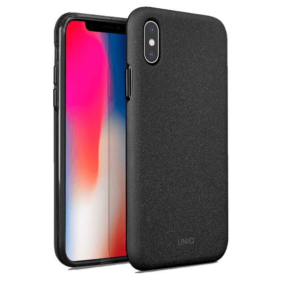 UNIQ Lithos Dual Tier Protection With Texturized Grip Case For iPhone X/XS - Black - كفر حماية - يونيك - ايفون اكس \ اكس اس