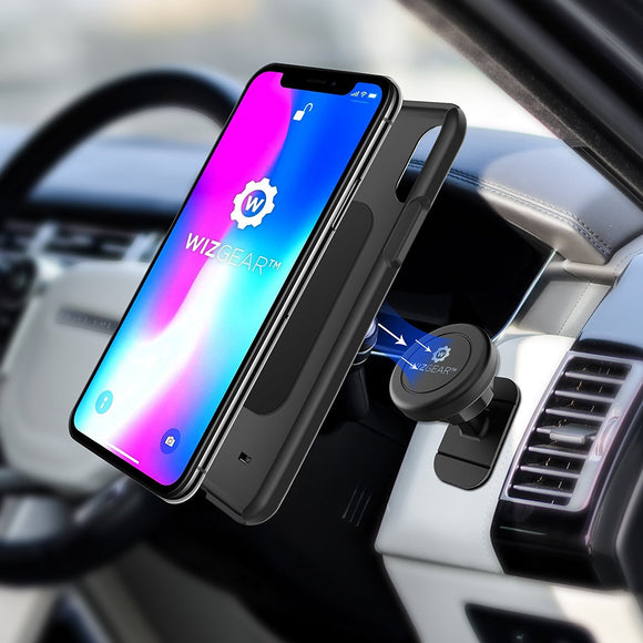 WizGear Magnetic Stick On Car Mount Round - ستاند سيارة مغناطس