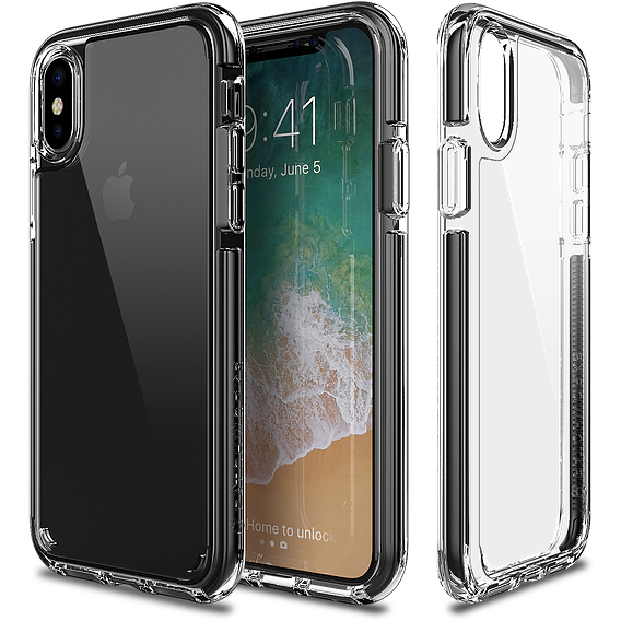 Patchworks Lumina EX Case For iPhone X Clear - Black - كفر حماية شفاف - اطار اسود