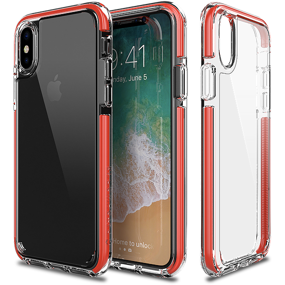 Patchworks Lumina EX Case For iPhone X Clear - Red