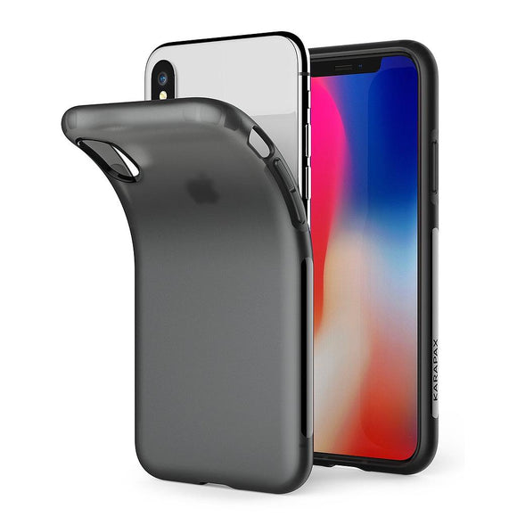 KARAPAX Touch Case For IPhone X - Black - كفر حماية - اسود شفاف