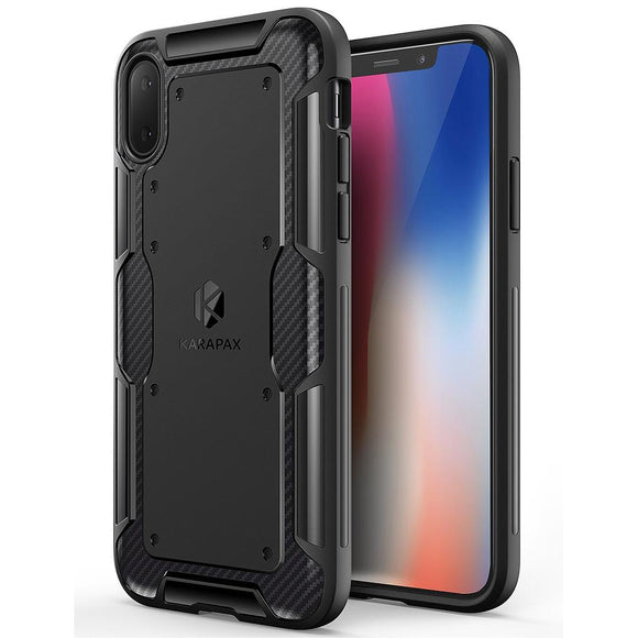 KARAPAX Shield Case For IPhone X - Black - كفر حماية - اسود