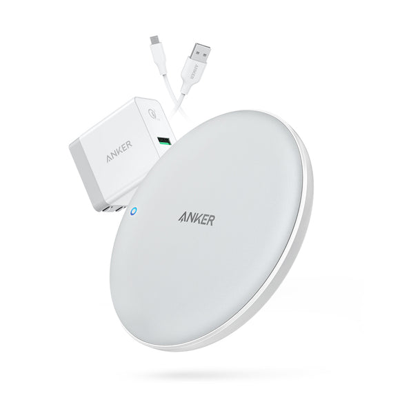Anker PowerWave Pad Wireless Charger 7.5W QC3.0 - White - [18 Month Warranty]