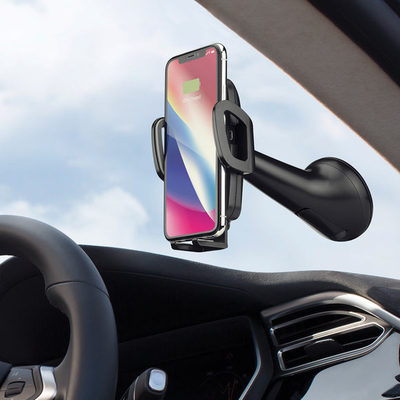 Momax Q.Mount Fast Wireless Charging Car Mount - Black