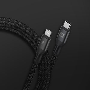 Momax Elite link Lightning to USB-C Charging Cable (1.2m)  - كيبل شحن - موماكس - من ايفون الى تايب سي - 1.2 متر